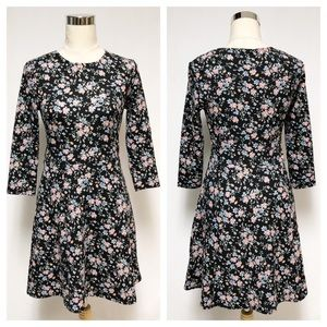 Divided H&M Floral Fit and Flare Dress